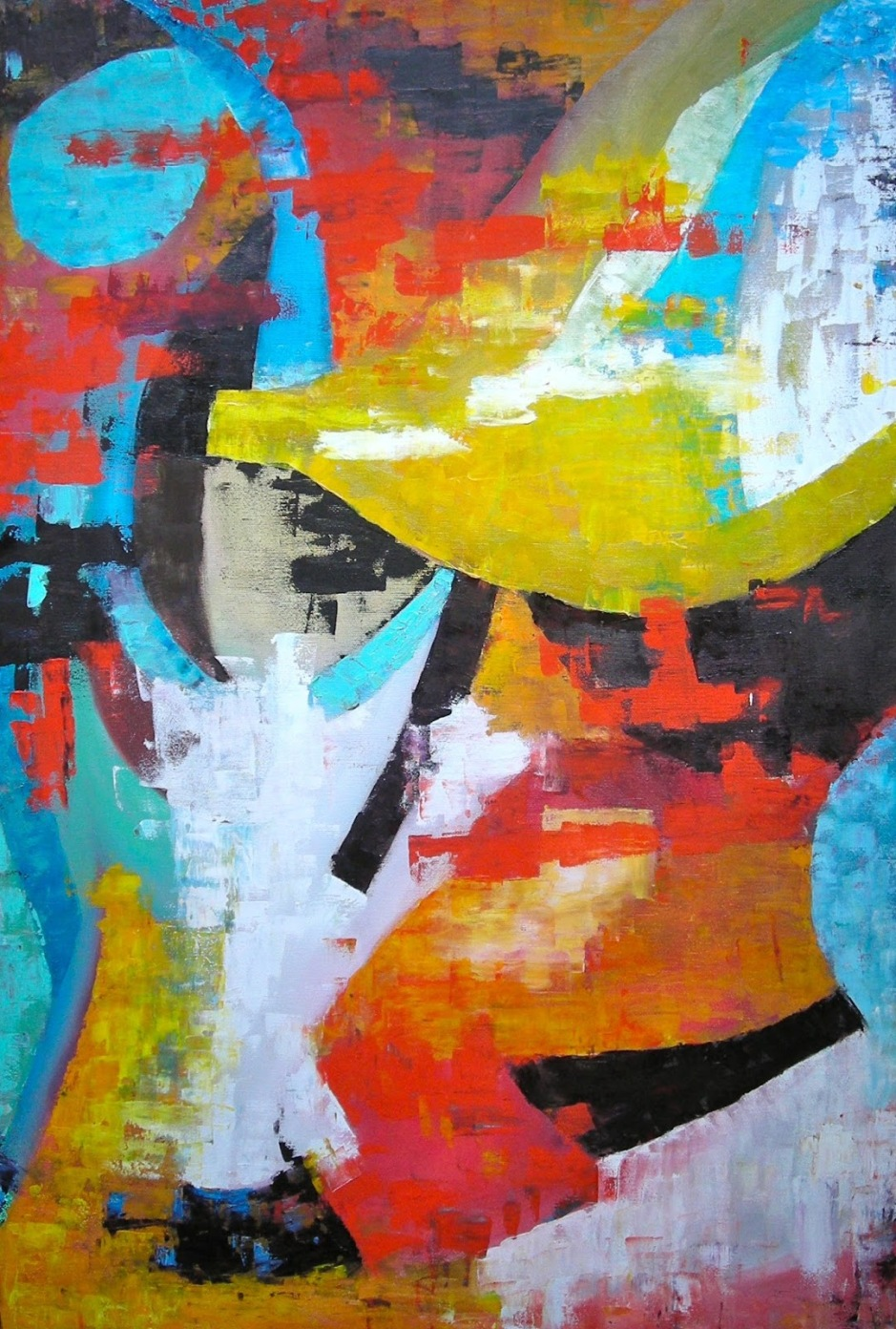 Lady with hat - oil on canvas 60 x 90